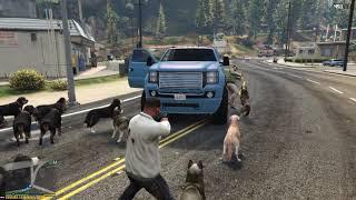 GTA 5 - Dogs as Bodyguards 1.3 test