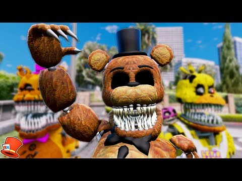 BRAND NEW SINISTER FREDDY ANIMATRONIC! (GTA 5 Mods For Kids FNAF RedHatter)
