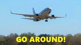 U.S. Navy Boeing 737 (C-40 Clipper) GO AROUND on Short Final (Windshear)