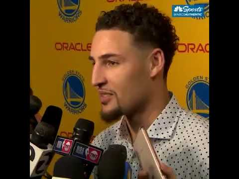 Klay Thompson hopes Riley didn't see Stephen Curry's explicit celebration