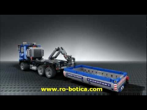 cami n contenedor lego technic en ro youtube. Black Bedroom Furniture Sets. Home Design Ideas