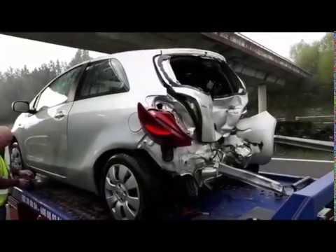 Seis coches implicados en un choque múltiple a causa del granizo en Begonte