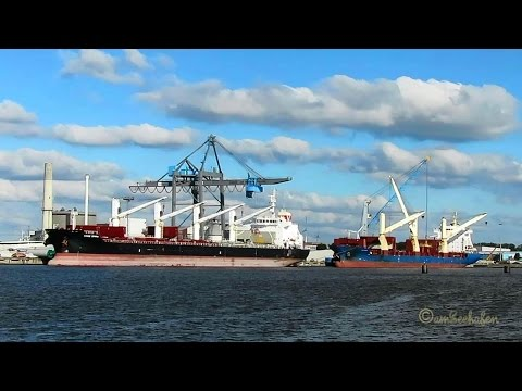 4-crane and 3-crane ships THORCO RANGER  VRHH2 & VOGE EMMA D5GV2 Emden merchant vessels