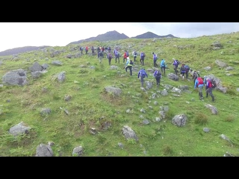 VIDEO: Gardaí take on Four Peaks Challenge to help Aware charity