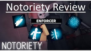 [Roblox] Notoriety - Enforcer Skill(Review)
