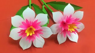 How to Make Beautiful Flower with Paper - Making Paper Flowers Step by Step - DIY Paper Flowers #19