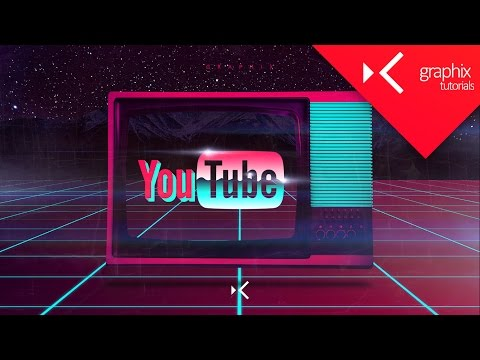 How To Make a YouTube 80s Based Logo Wallpaper  Tutorial  Photoshop CC 2015  GraphixTV
