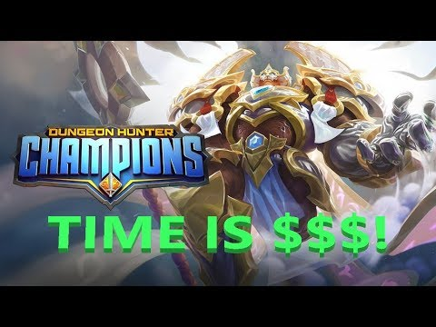 BARCODE - DUNGEON HUNTER CHAMPIONS - TIME IS MONEY! TIPS ON WHAT TO FOCUS ON
