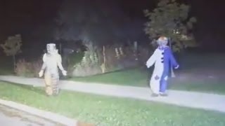Creepy clowns in 30-second 'stare off' with Wisconsin police