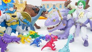Primal Age Batman and Joker Appears! Dino Mecard Friends Help Batman to Defeat Joker!   ToyMoon