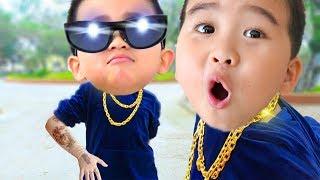 Фото Boong Candy и друзья с помощью Bubble держат друг друга - Веселые видео для детей