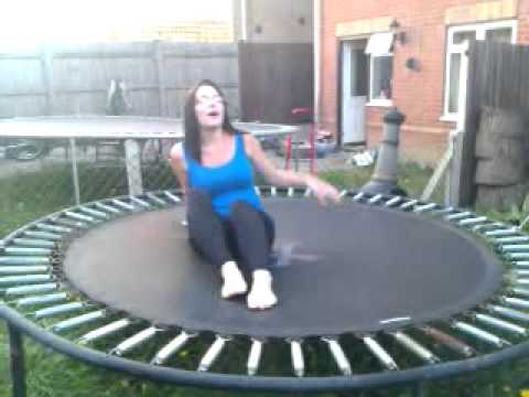 Pissed on trampoline