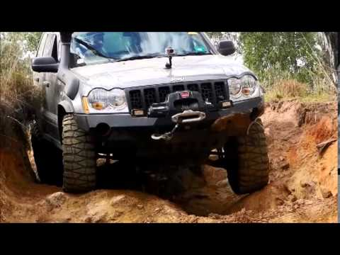 Jeep Grand Cherokee Lift Kit >> Jeep Grand Cherokee WH WK CRD QDII Crawling down some large holes at Landcruiser Mountain Park ...