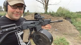 SGM Tactical 25 Round Vepr 12 Drum!! Unboxing, Review, and Ammo Test!!