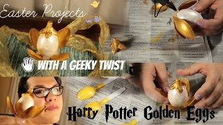 Making the Golden Egg from Harry Potter | Geeky Easter Fun