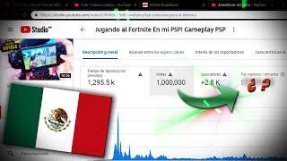 Cuanto gané por 1 Millón de vistas en YouTube México?