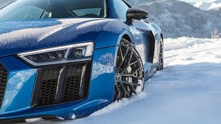 V10+SNOW=FUN! - 2018 AUDI R8 V10 PLUS (610hp,V10 NA) - WINTER WARRIOR - Amazing scenery