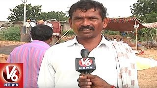 Khammam Farmers Facing Problems With Markfed Officer's New Rules | V6 News