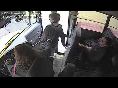 Andi and Kenny  - Bus Driver Stops Kid from Stepping in Front of a Speeding Car
