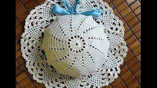 Шапочка летняя на девочку со схемой. 12 летних шапочек на девочку крючком со схемами