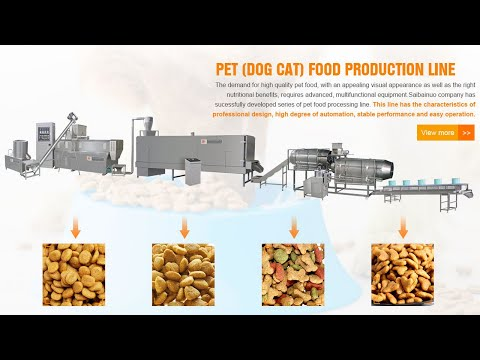 Fully Automatic Dog Pet Food Machine Production Line