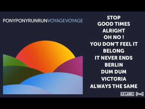 Pony Pony Run Run - You Don't Feel It (Official Audio)