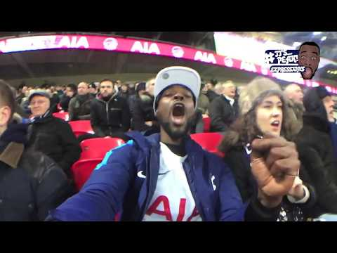 Tottenham (4) VS Everton (0) - A FAN EXPERIENCE | HUENG MIN SONALDO CHAMPAGNE FOOTBALL DISPLAY