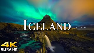 FLYING OVER ICELAND (4K UHD) Relaxing Music with Beautiful Nature Scenery | 4K VIDEO Ultra HD TV