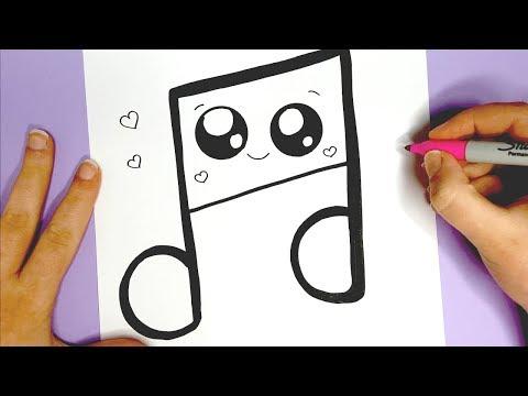Musiknote Malen Kawaii Bilder Zum Nachmalen Youtube