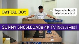 3000 liraya BATTAL BOY 4K TV aldım! SUNNY SN65LEDA88 İncelemesi