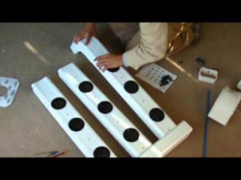 Aeroponics Gutter System Homemade Youtube