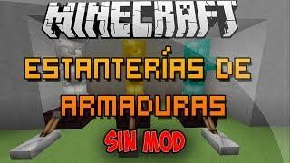 Minecraft - Como Hacer Estanterías de Armaduras - Comando Fácil