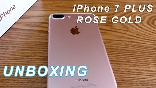 Unboxing iPhone 7 Plus Rose Gold