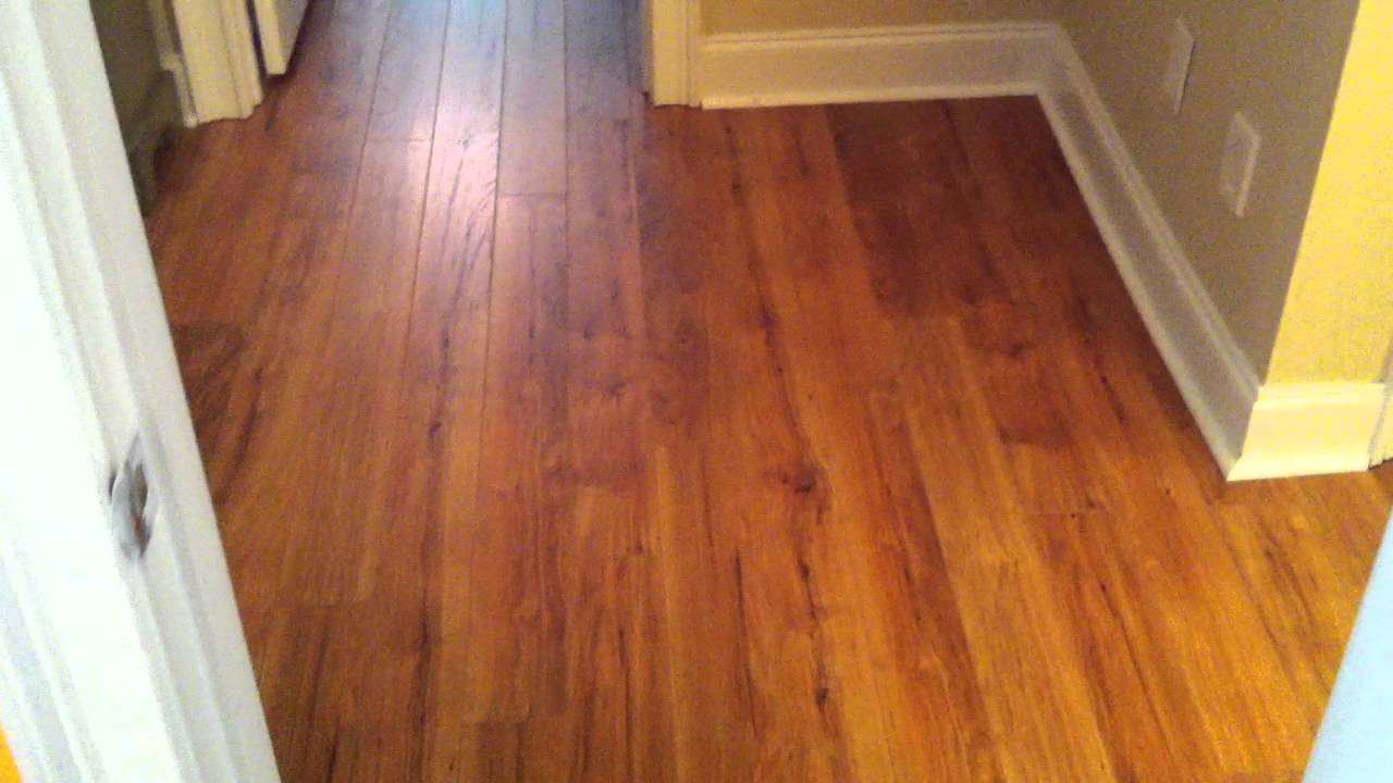 Pergo laminate flooring hickory look youtube for Pergo laminate flooring