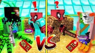 10 TL FAKİR MUTANT ZOMBİ VS 10.000 TL ZENGİN MUTANT ZOMBİ - Minecraft