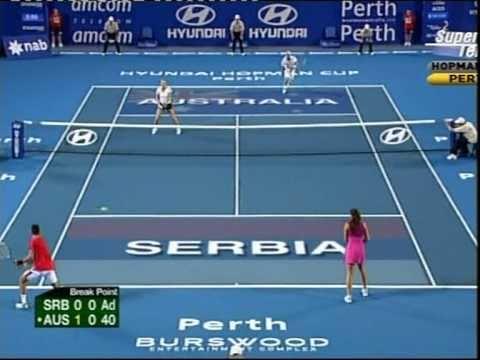 Ana Ivanovic Novak Djokovic-alicia Molik Leyton Hewitt Hopman Cup 2011set 2 Part 1