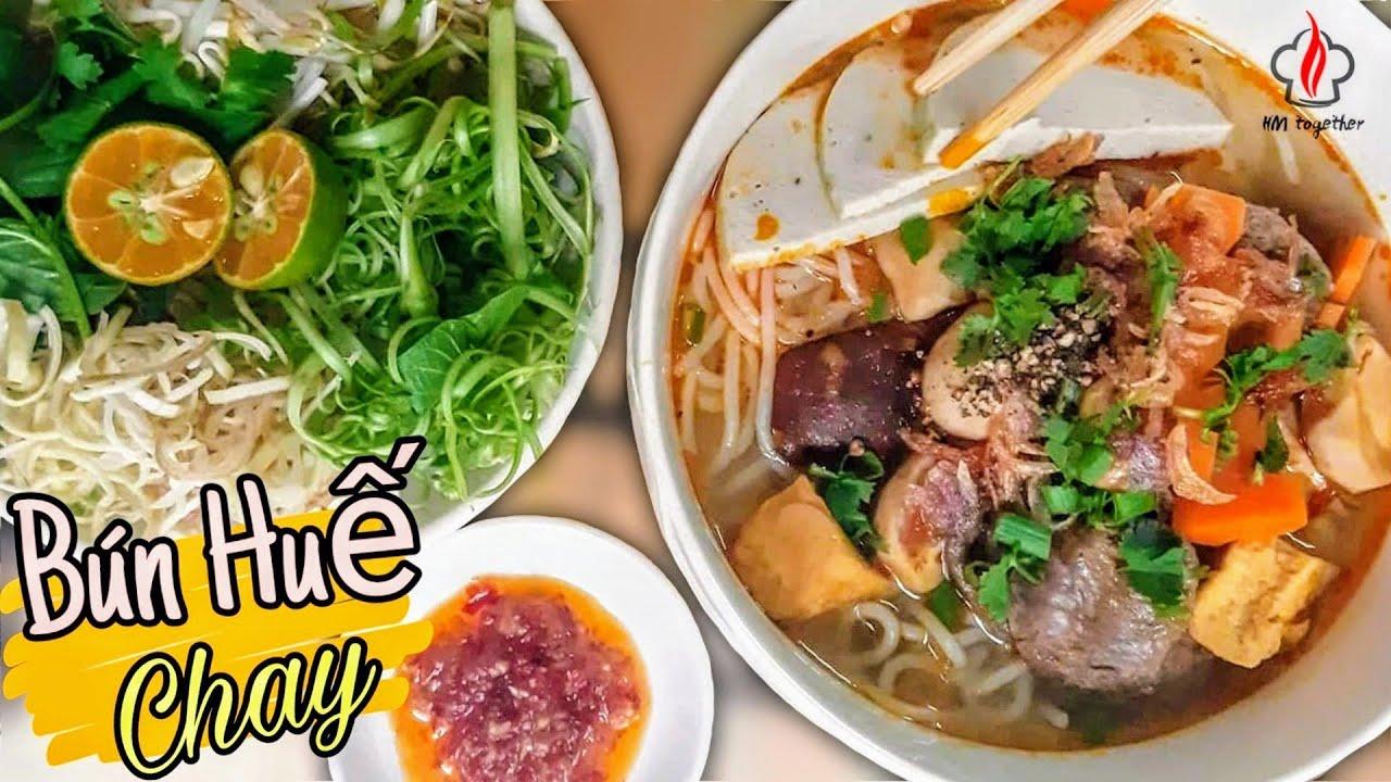 Cách nấu BÚN HUẾ CHAY ngon đơn giản – Món ăn chay | HM together