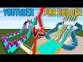 Youtuber vs. Pro Builder - WATER SLIDES!   Minecraft