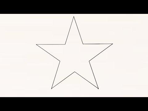 КАК НАЧЕРТИТЬ ПРАВИЛЬНУЮ ЗВЕЗДУ ИСПОЛЬЗУЯ КАЛЬКУЛЯТОР /  How To Draw A Star