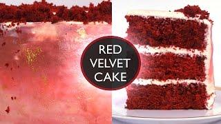 The Best Red Velvet Cake Recipe (Moist & Fluffy) - ASMR - Treat Factory