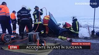 Accidente in lant in Suceava