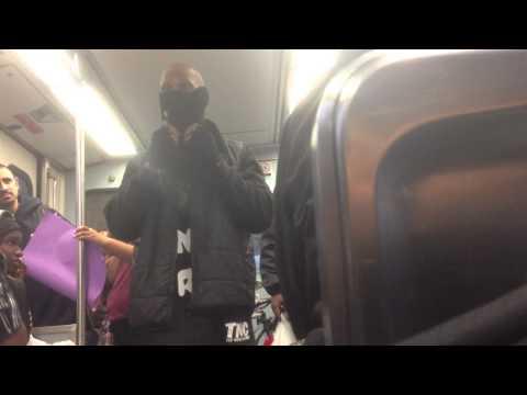 Hustler Pimping Beanies on Metro Blue Line