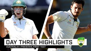 Marnus makes hay before seamers have a field day | First Domain Test