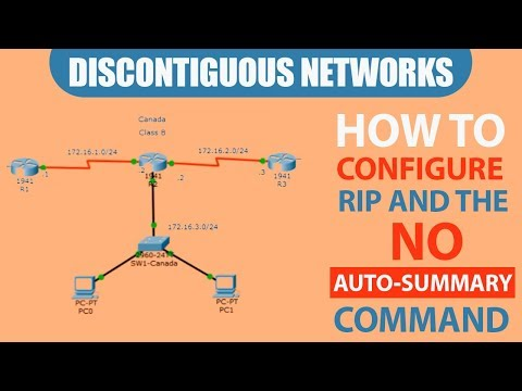 Discontiguous Networks | How to configure RIP and the No Auto-Summary Command