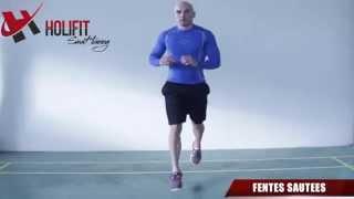 exercice fitness fentes sautées