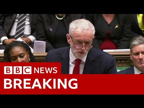 Corbyn: 'It is time for a general election' - BBC News