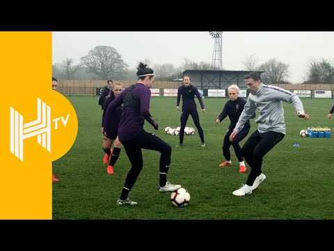 Phil's still got it! Neville trains with Lionesses