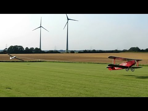 RC UDET U-12 Flamingo schleppt 3,75m Pilatus B4 , Flight Demonstration *HD*