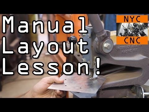 Manual Sheet Metal Layout Lesson!