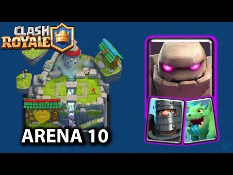 YENİLMEZ GOLEM DESTESİ (Arena 10) - Clash Royale
